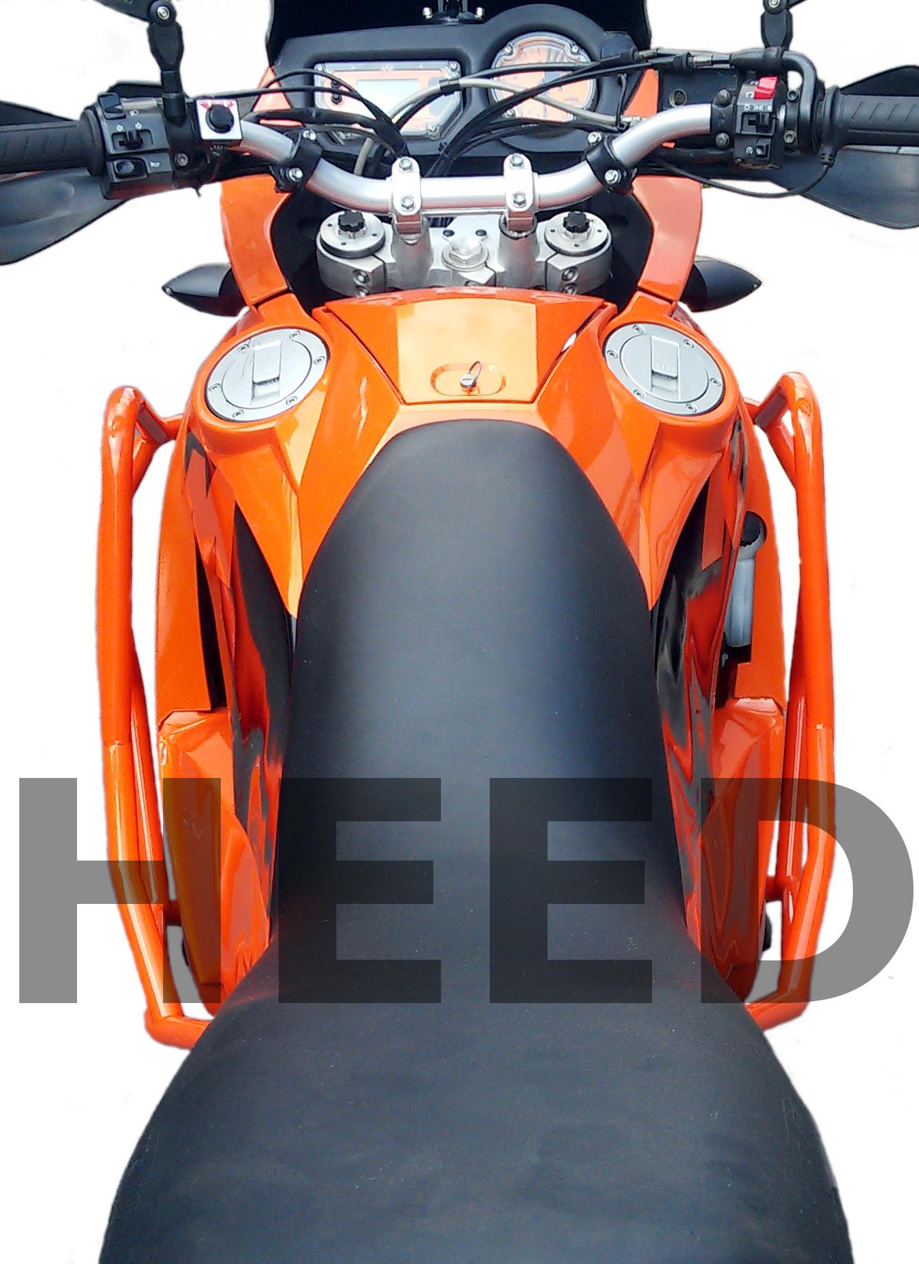 noir 02-06 Pare carters HEED pour des motos 950 Adventure